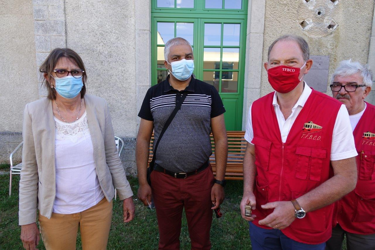 De gauche à droite : Anne Maricot, conseillère départementale de l'Aisne et maire de Jaulgonne, Dominique Duclos, maire de Nogent-l'Artaud et Yves Coquel, président de TFBCO.