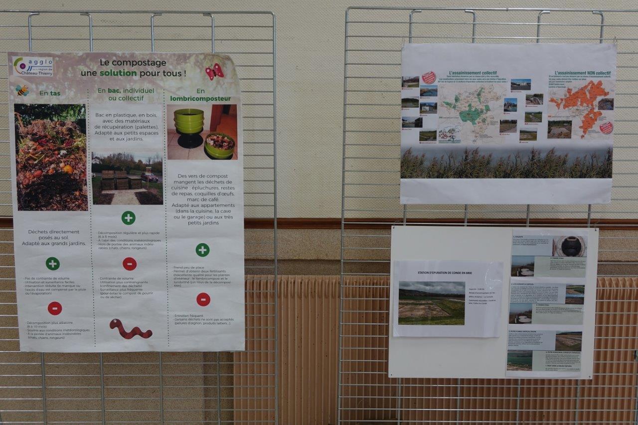 Le stand de la Communauté d'agglo dédié aux déchets et à l'assainissement, a, lui aussi, été déserté.