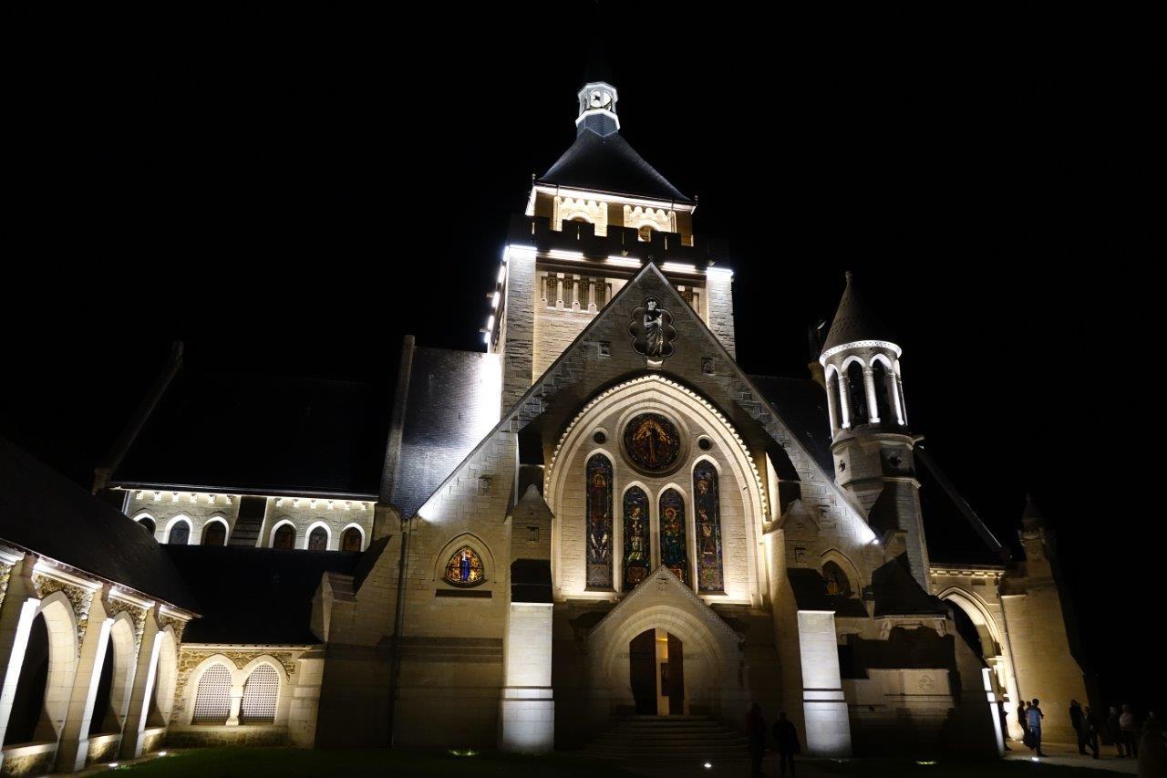 Le nouvel éclairage du Mémorial des Batailles de la Marne a été inauguré le 11 juillet 2018...