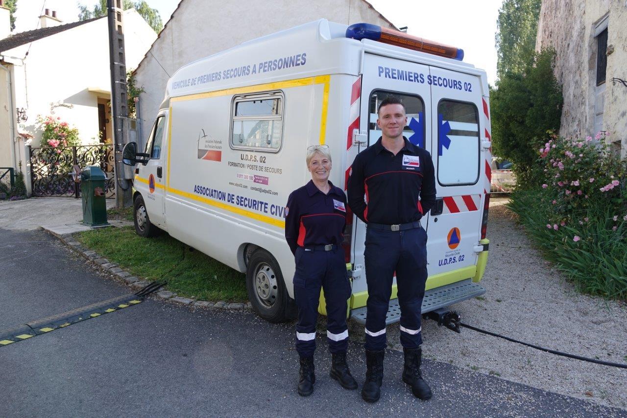 Les secouristes de l'Union départementale des premiers secours de l'Aisne veillent au grain.