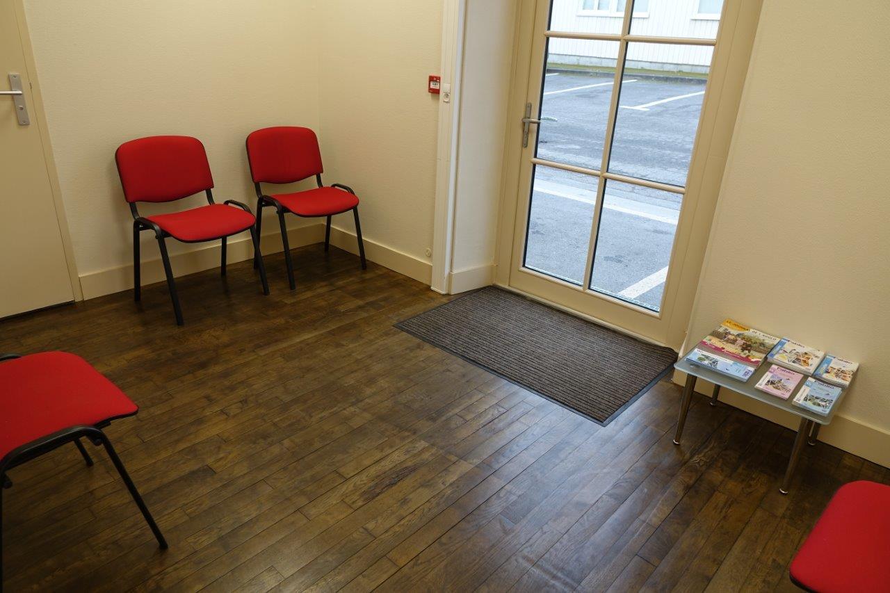 La salle d'attente.