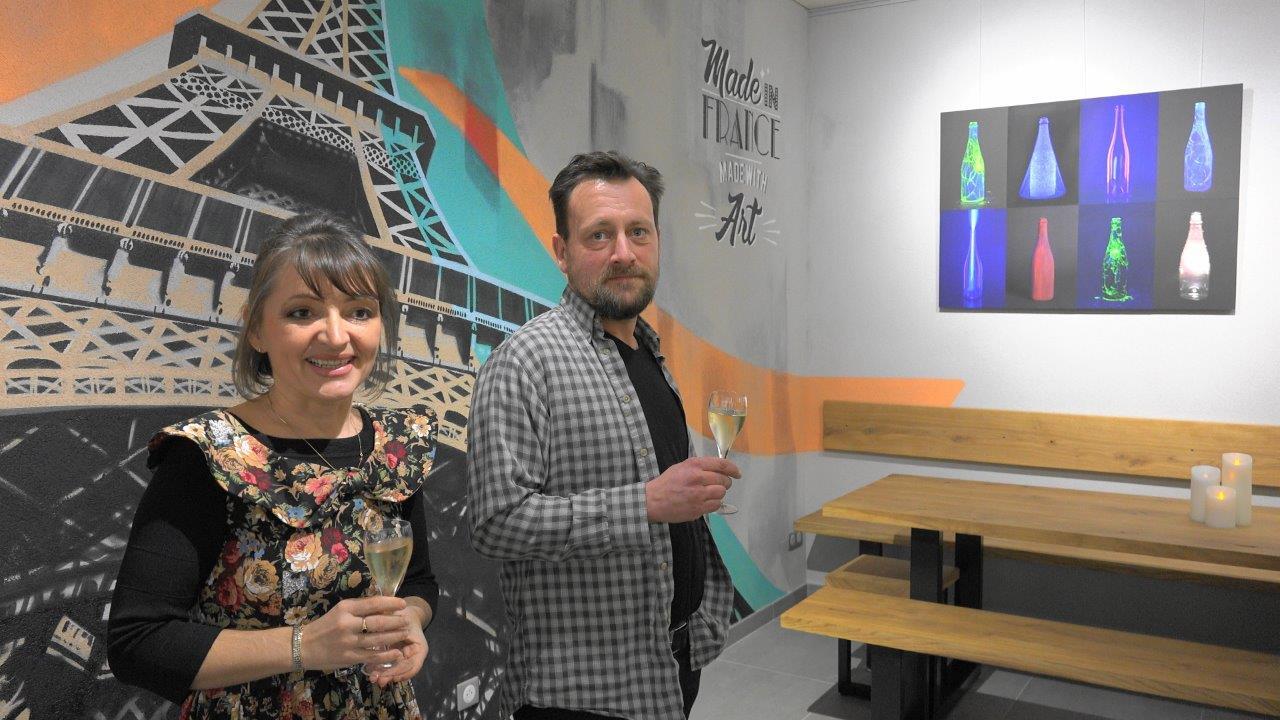 De gauche à droite : Anna Météyer et David Rase.