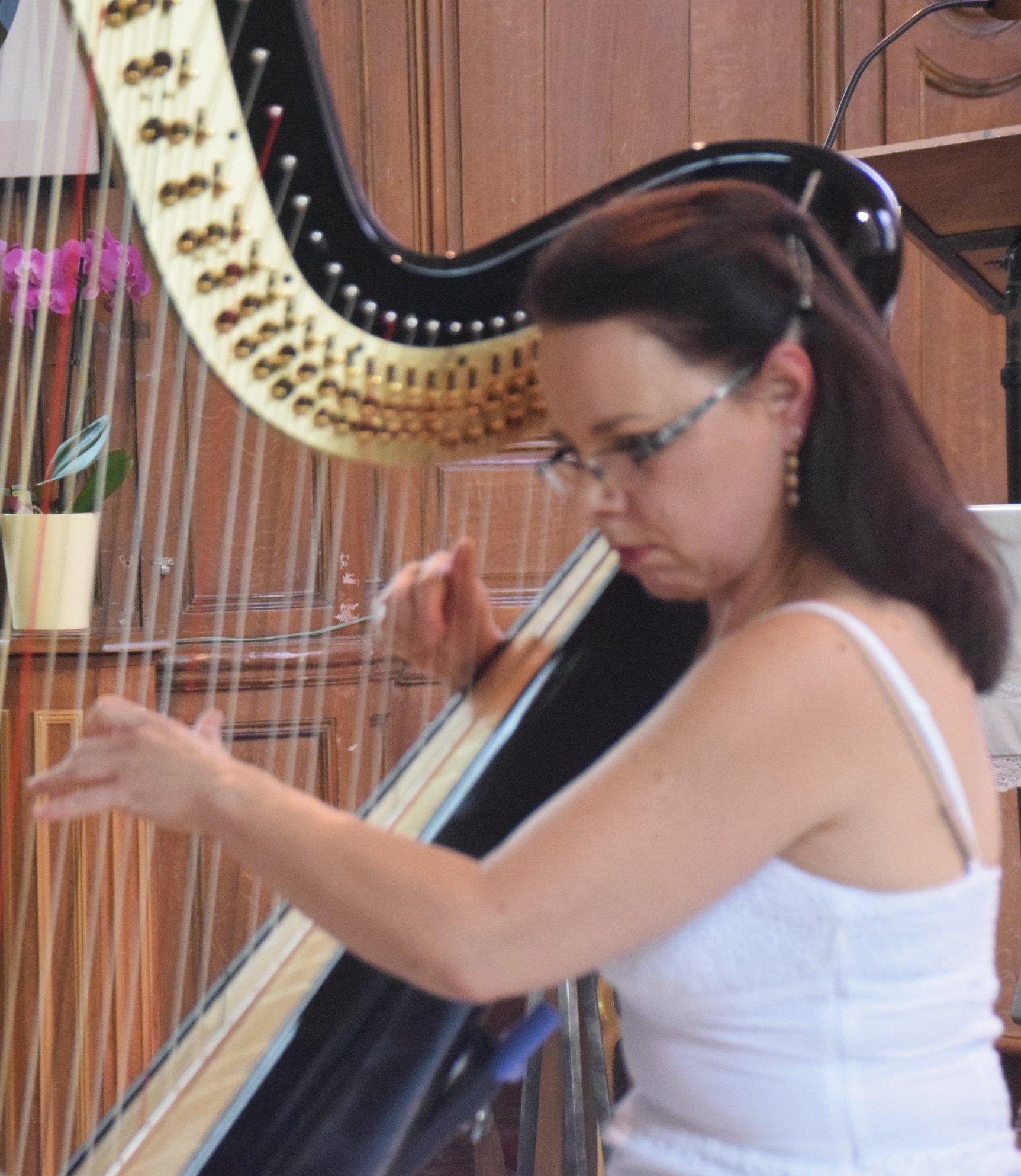A la harpe : Anne Ricquebourg.