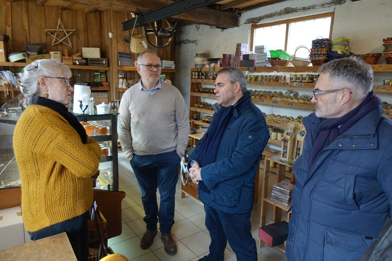Xavier Bertrand a visité les Canardises des 3 Vallées...