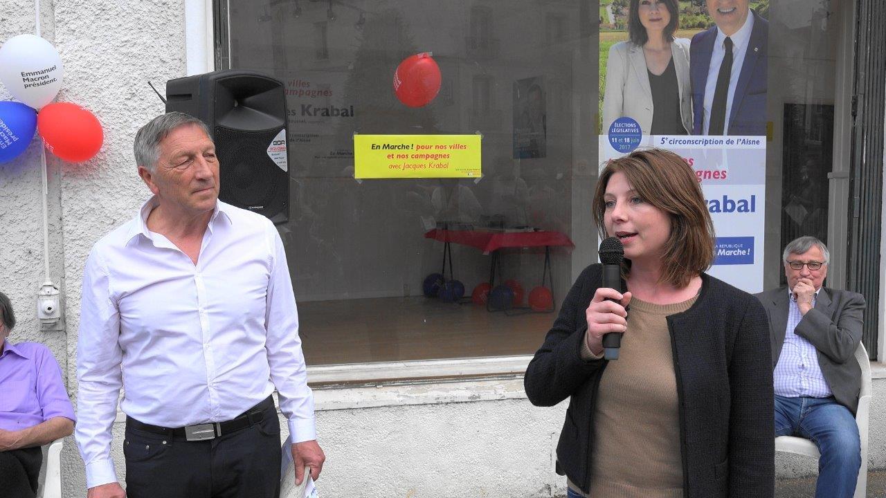 De gauche à droite : Jacques Krabal, député sortant, et Jeanne Doyer-Roussel, sa suppléante.