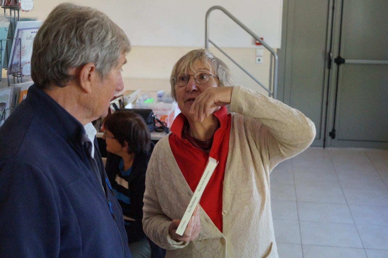 A droite : Marie-Noelle Rouanoux.