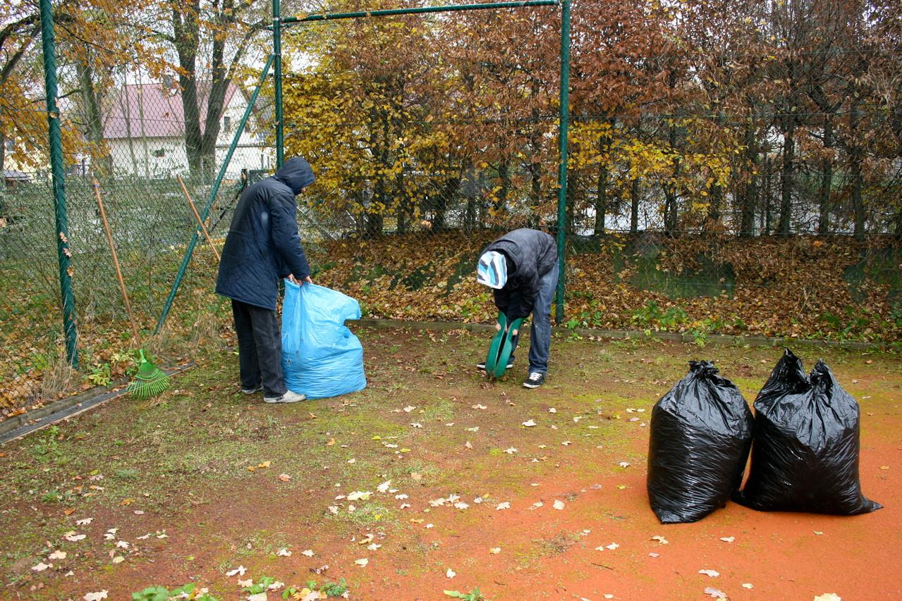 Selbst kleinste Blätteransammlungen wurden entfernt!