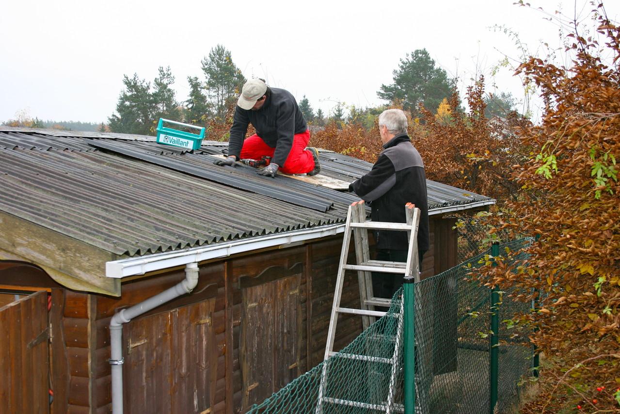 Das Dach wurde fachmännisch abgedichtet
