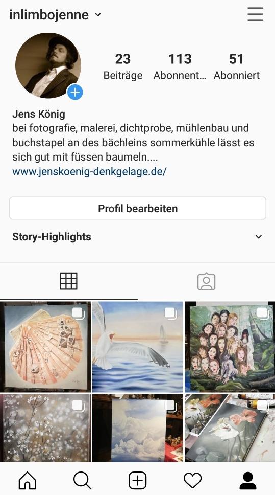 profil auf Instagram