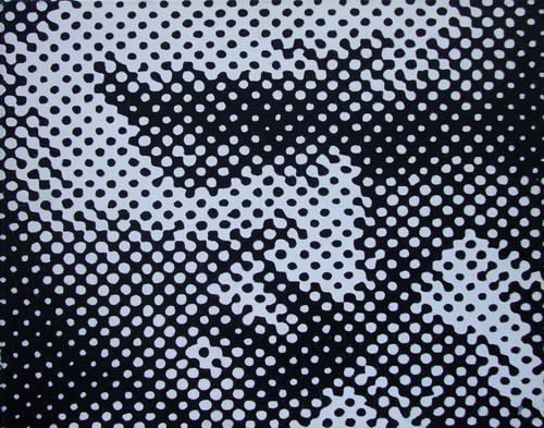 Die Summe aller Atome, 2006, 50 x 40 cm, Öl auf Leinwand