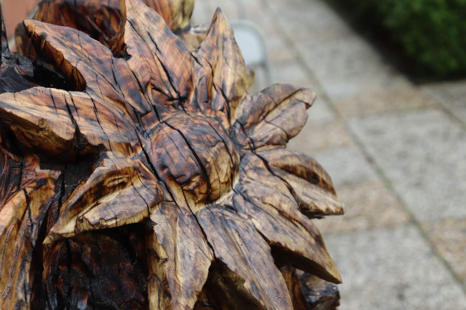 Bos bloemen uit populierenhout