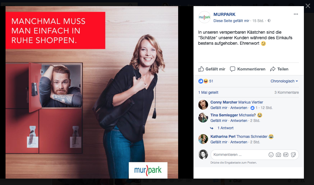 MURPARK Facebook Service-Kampagne (josefundmaria)