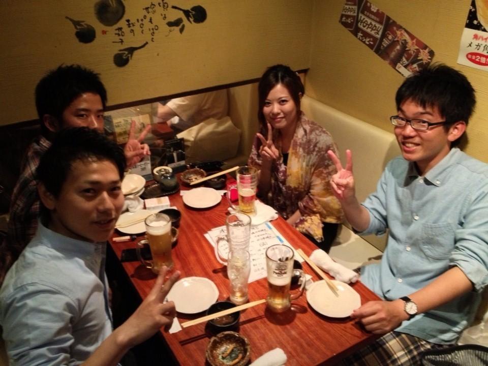 最後は部員と交えて懇親会を開きました。鎌田さん、ありがとうございました!!