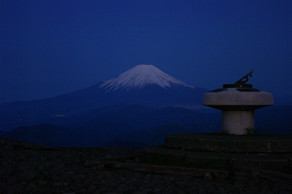 富士山も姿を見せた。