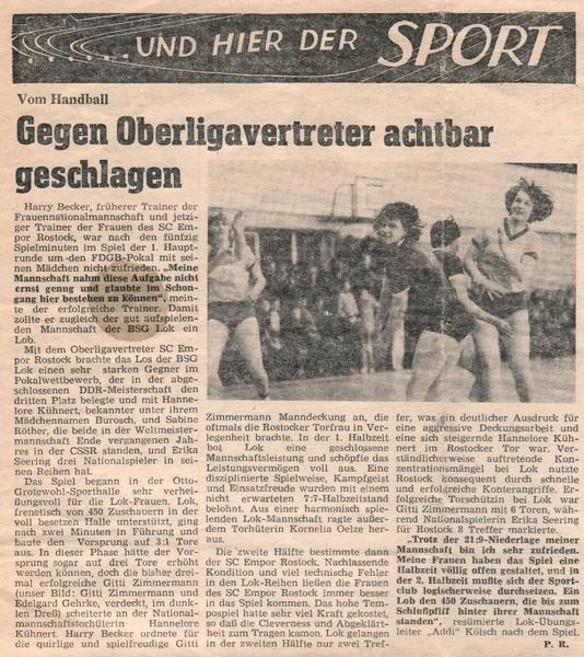 """Quelle """"Unsere Lok """" Betriebszeitung des RAW Stendal vom 24.05.1979"""