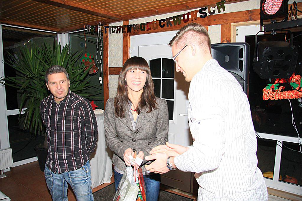 Klaus Müller, Bianca Mahlich und Maik Hornuff