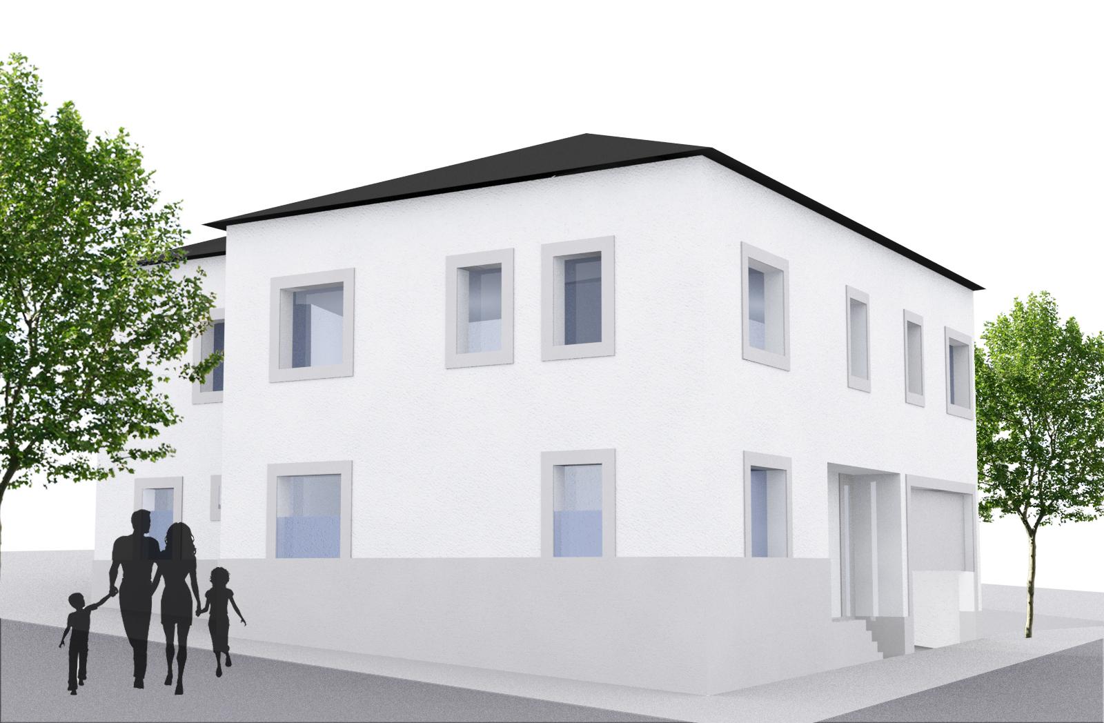Obra nueva. Edificio con tres viviendas en Viana do Bolo