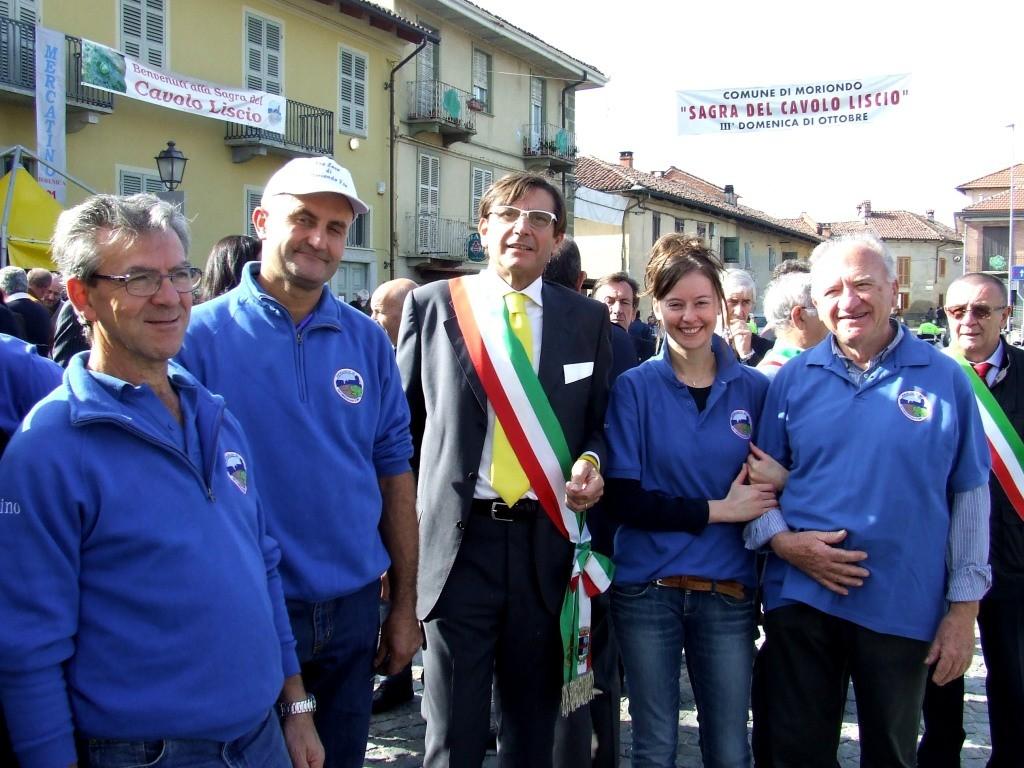 Il Sindaco Beppe Grande con il Presidente e membri del CD della Pro Loco