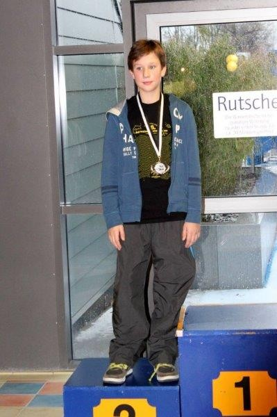 Max mit Medaille