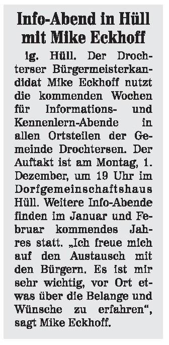 Neue Stader Wochenblatt vom 26.11.2014