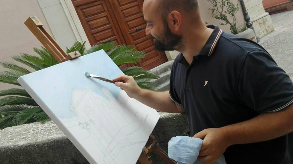 Marco Romano in estemporanea