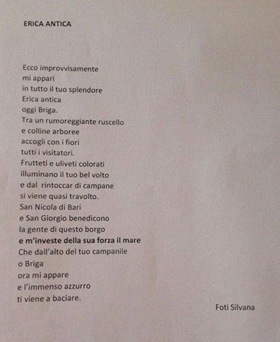 Poesia della vincitrice Silvana Foti