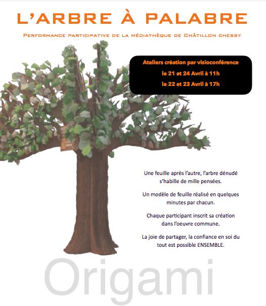 Performance artistique : l'arbre à palabre 21-14 avril 21