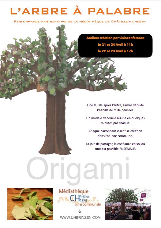Performance artistique : l'arbre à palabre 21-24 avril