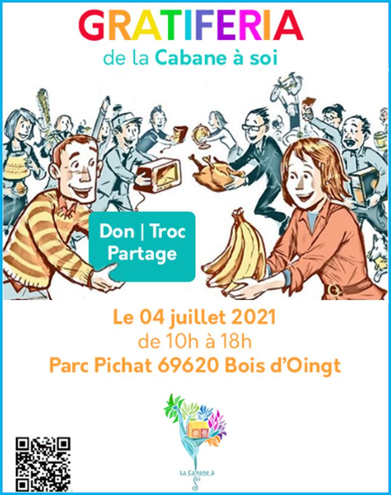 La gratiféria de la fête de La Cabane 04/07/21