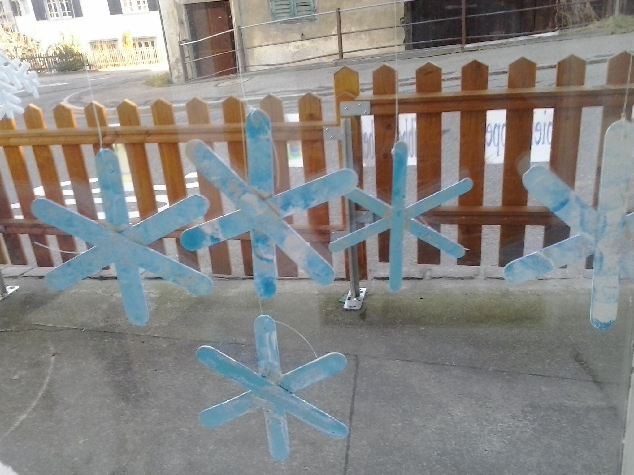 Schneeflocke aus Glacestängeli