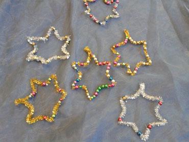 glitzernde Perlensterne