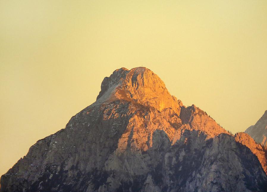 Blick auf den allgäu-tirolerischen Grenzberg
