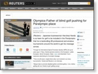 Olympics-Father of blind golf pushing for Paralympic place | Reuters