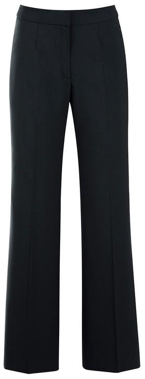 Damen-Hose - Schrittlänge 79 cm - ohne Bundfalten - ohne Taschen - Abnäher - leicht ausgestelltes Bein - Vorderhosenfutter - Farbe: schwarz