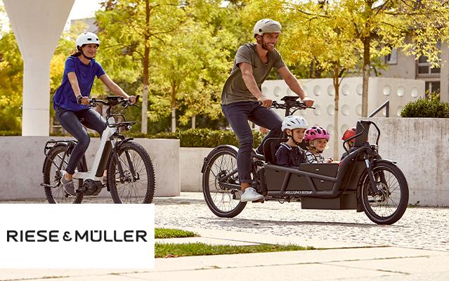Riese & Müller e-Bikes und Lasten e-Bikes