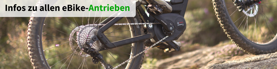 e-Bike Antriebe Banner