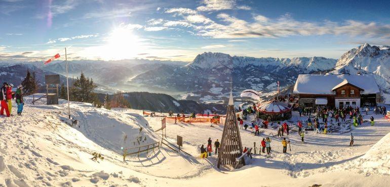 Bild: Der Bischling in Werfenweng  ist für Skifahrer und Paragleiter der Gipfel des Vergnügens