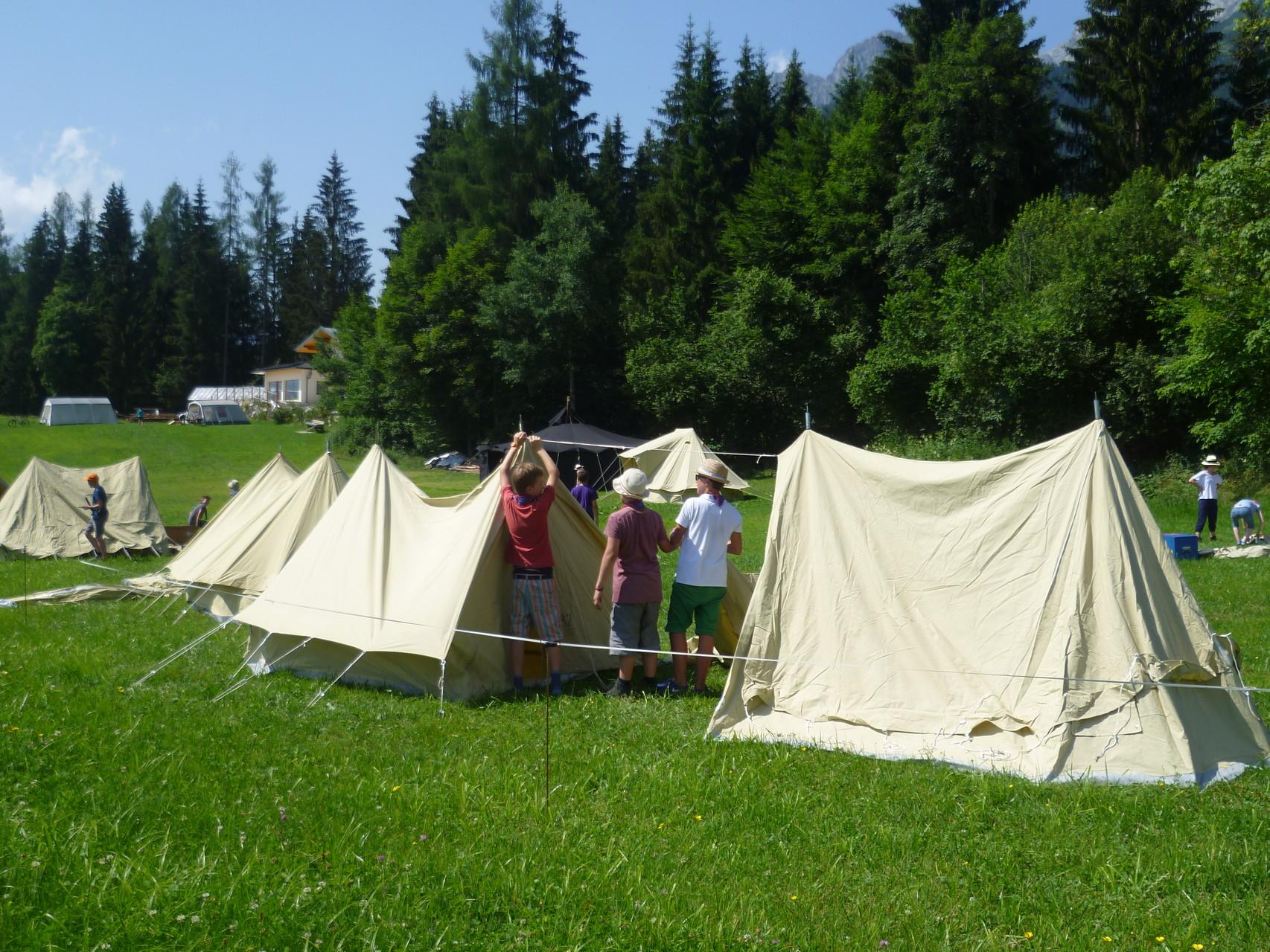 Gruppen-Zeltlagerplatz