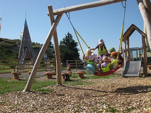 Auf dem Bischling gibt es auch einen schönen Kinderspielplatz