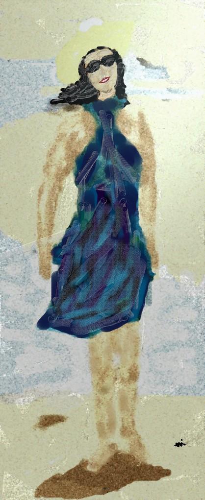 RITRATTO DI MILLI BENEDETTI - 2012 eseguito al pc tecnica pastelli a cera impasto