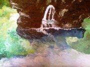 LA SORGENTE - 2010 olio su tela 45 x 75
