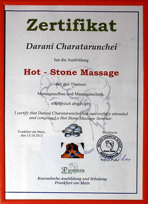 Zusatzausbildung für Hot Stone Massage