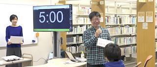 世界大会開会。ビブリオバトル北海道公認コメンテーターの菅原さん。