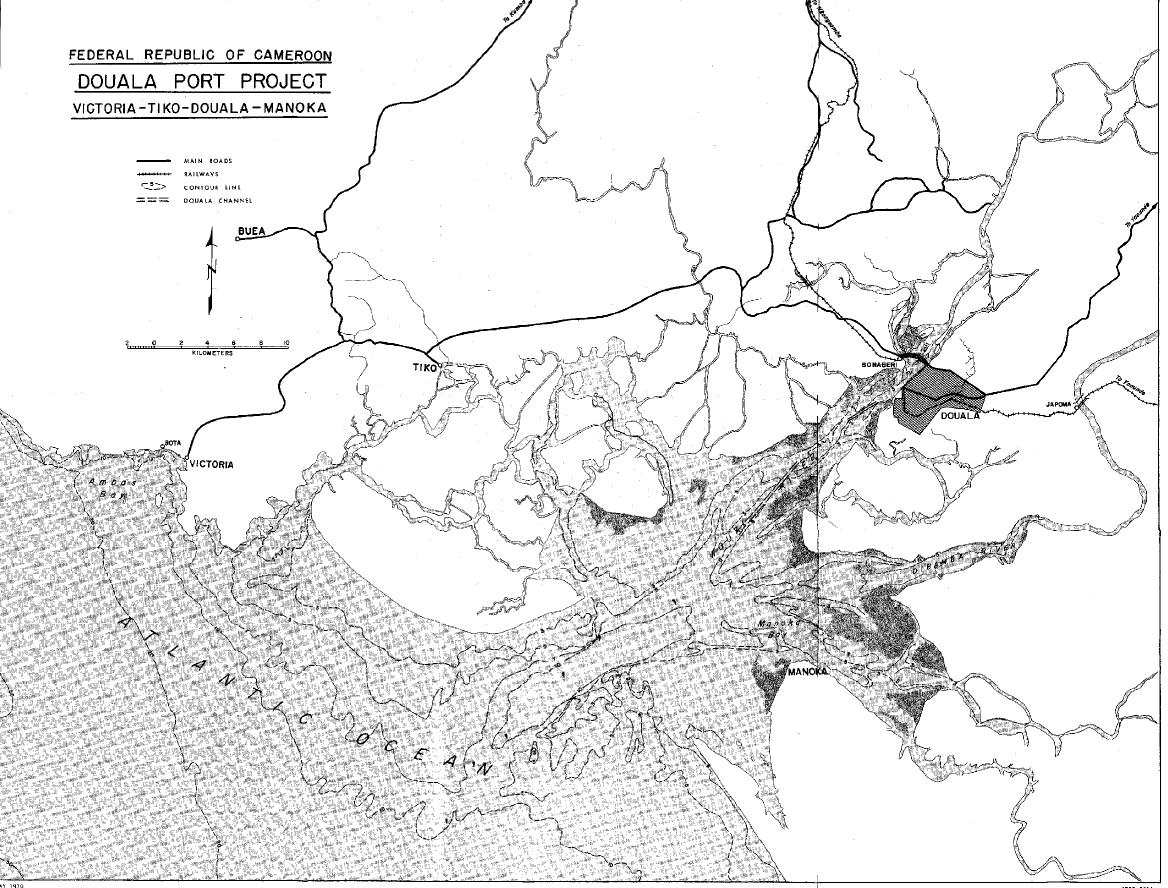 Carte de la zone littorale du Cameroun