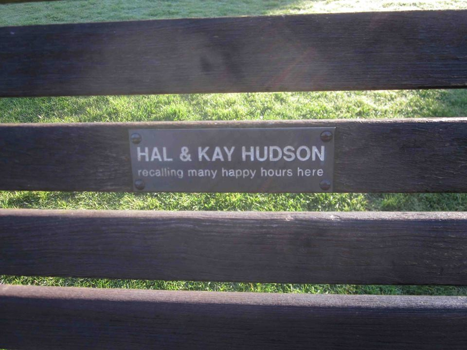 a bench in the Kensington Garden