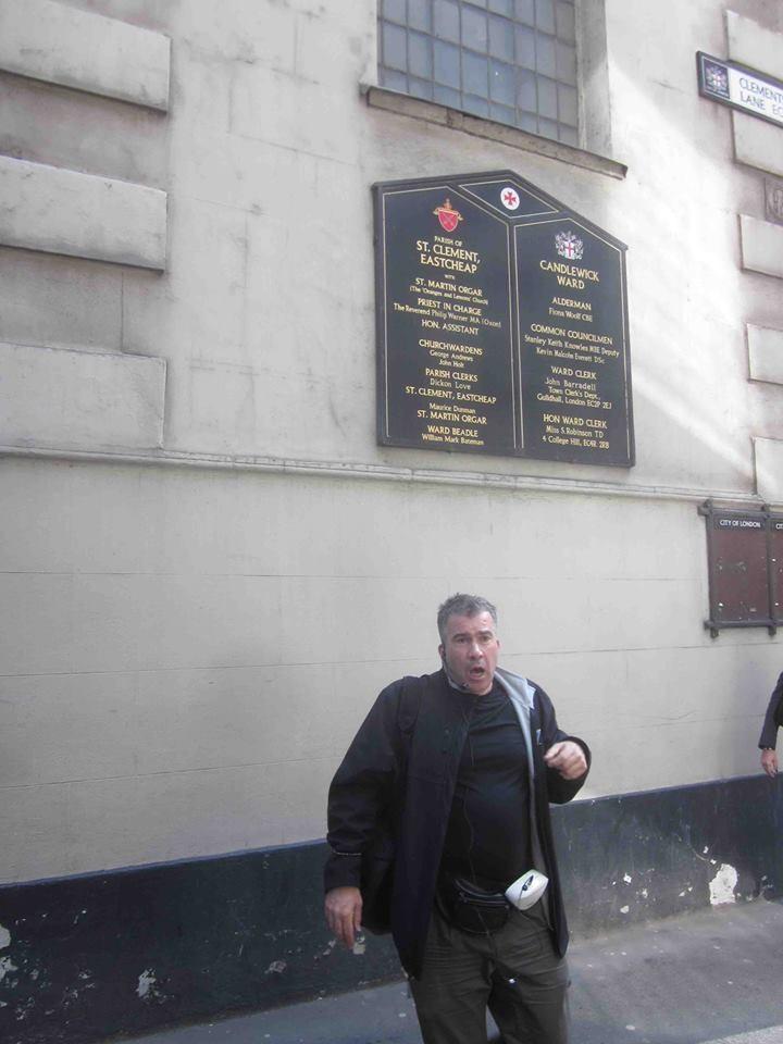 "Simon, the guide of ""Hidden London"" walk"