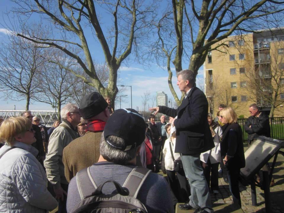 "Robert, the guide of ""Brunel's London"" walk"