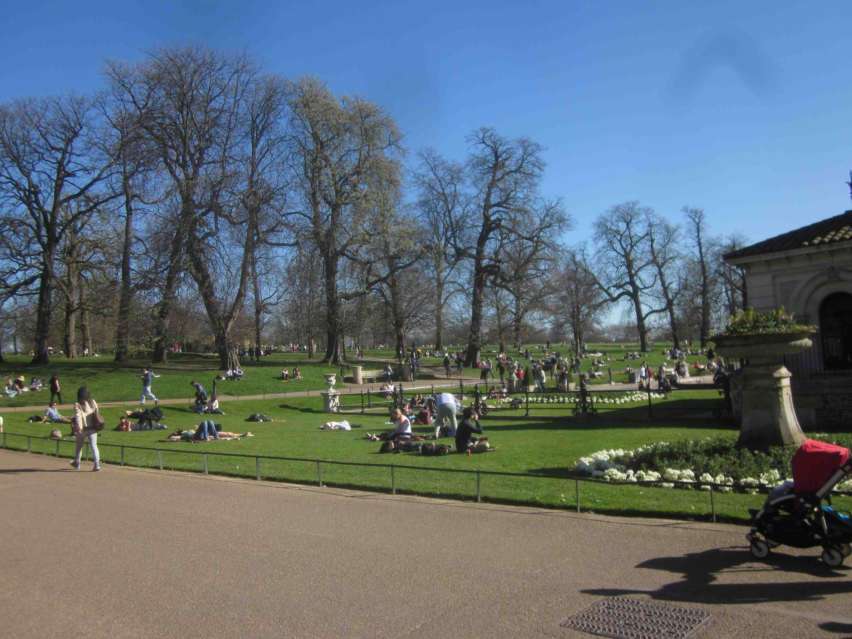 The spring has come to the Hyde Park
