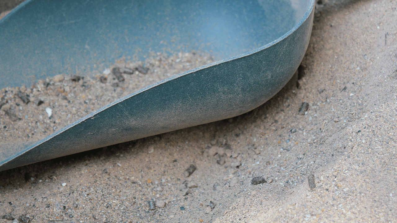 Detailansicht des verwendeten Granulats