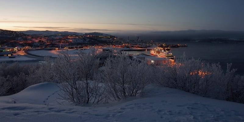 M/S Kong Harald in Kirkenes - da war es noch richtig kalt
